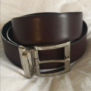 Authentic Men's Prada Belt Smooth Calf Leather